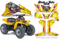 Suzuki-LT80-CreatorX-Graphics-Kit-Skulls-N-Bolts-Solid-Pink-Yellow