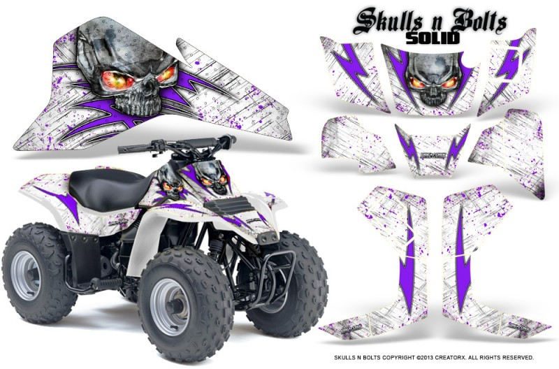 Suzuki-LT80-CreatorX-Graphics-Kit-Skulls-N-Bolts-Solid-Purple-White