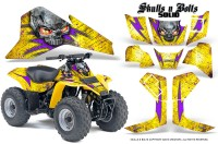 Suzuki-LT80-CreatorX-Graphics-Kit-Skulls-N-Bolts-Solid-Purple-Yellow