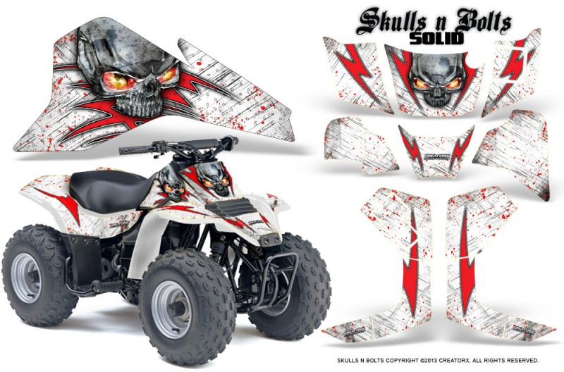 Suzuki-LT80-CreatorX-Graphics-Kit-Skulls-N-Bolts-Solid-Red-White