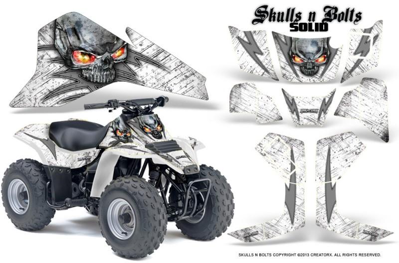 Suzuki-LT80-CreatorX-Graphics-Kit-Skulls-N-Bolts-Solid-Silver-White