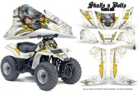 Suzuki-LT80-CreatorX-Graphics-Kit-Skulls-N-Bolts-Solid-Yellow-White