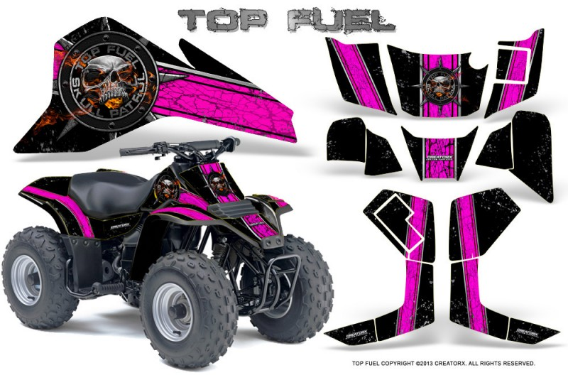 Suzuki-LT80-CreatorX-Graphics-Kit-Top-Fuel-Pink-Black