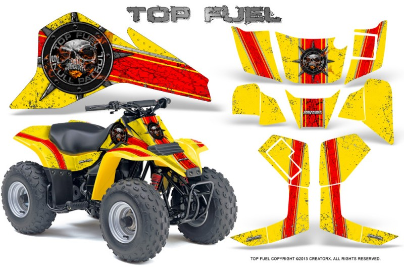 Suzuki-LT80-CreatorX-Graphics-Kit-Top-Fuel-Red-Yellow