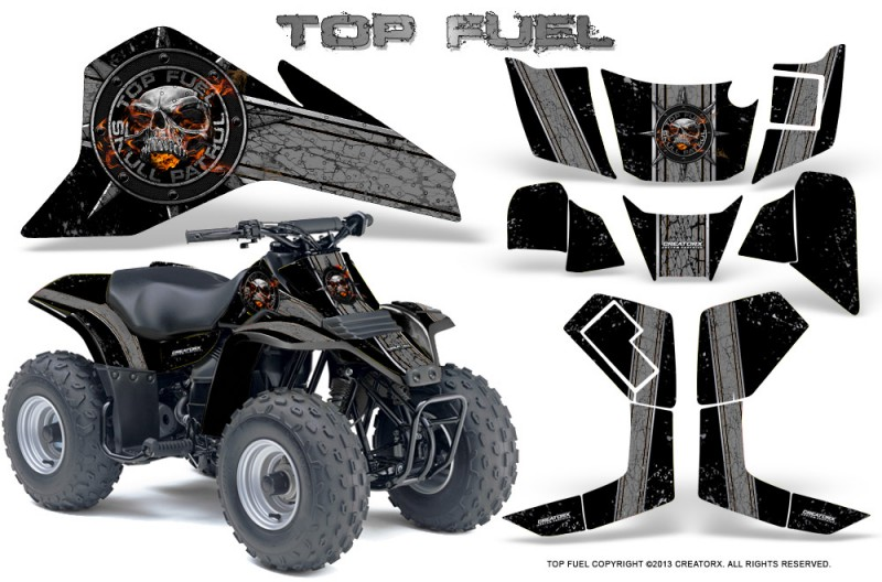 Suzuki-LT80-CreatorX-Graphics-Kit-Top-Fuel-Silver-Black
