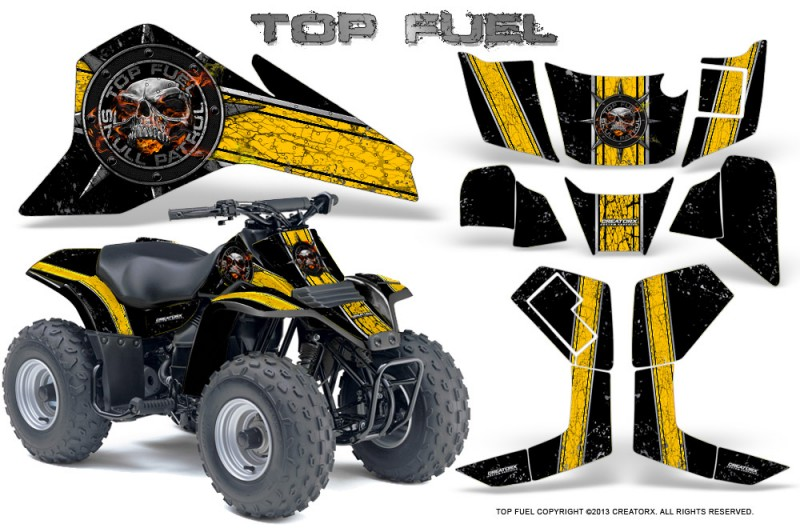 Suzuki-LT80-CreatorX-Graphics-Kit-Top-Fuel-Yellow-Black
