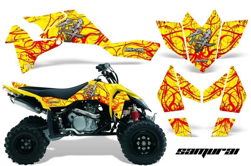 Suzuki-LTR-450-CreatorX-Graphics-Kit-Samurai-Red-Yellow