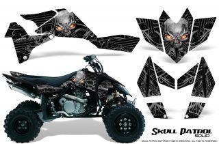 Suzuki LTR 450 CreatorX Graphics Kit Skull Patrol Solid Silver Black 320x211 - Suzuki LTR 450 Graphics