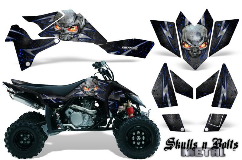 Suzuki-LTR-450-CreatorX-Graphics-Kit-Skulls-n-Bolts-Metal-Blue