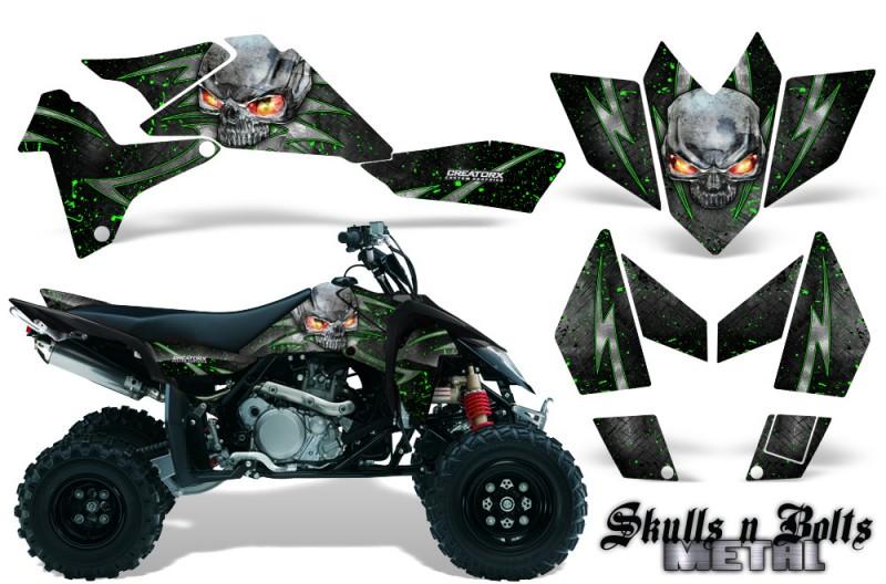 Suzuki-LTR-450-CreatorX-Graphics-Kit-Skulls-n-Bolts-Metal-Green