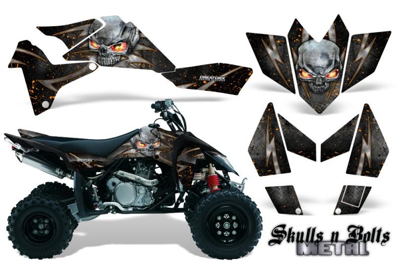 Suzuki-LTR-450-CreatorX-Graphics-Kit-Skulls-n-Bolts-Metal-Orange