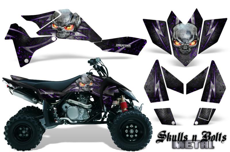 Suzuki-LTR-450-CreatorX-Graphics-Kit-Skulls-n-Bolts-Metal-Purple