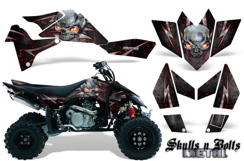 Suzuki-LTR-450-CreatorX-Graphics-Kit-Skulls-n-Bolts-Metal-Red