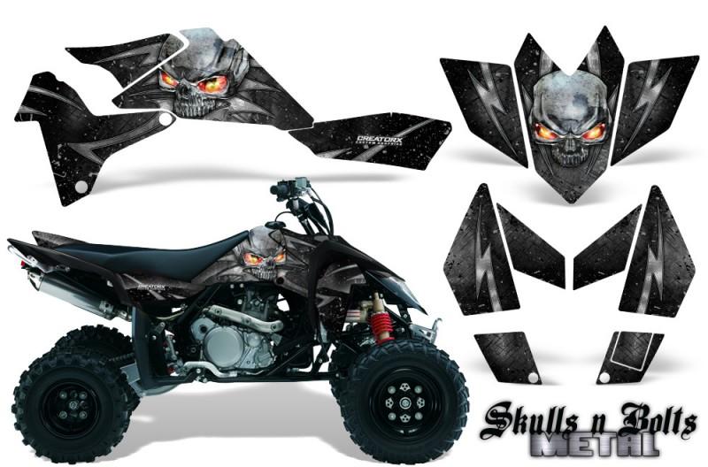 Suzuki-LTR-450-CreatorX-Graphics-Kit-Skulls-n-Bolts-Metal-Silver