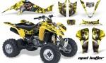 Suzuki LTZ 400 03 08 AMR Graphics MadHatter YellowSilverstripe 150x90 - Suzuki LTZ 400 2003-2008 Graphics