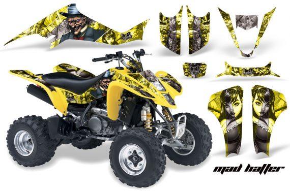 Suzuki LTZ 400 03 08 AMR Graphics MadHatter YellowSilverstripe 570x376 - Suzuki LTZ 400 2003-2008 Graphics