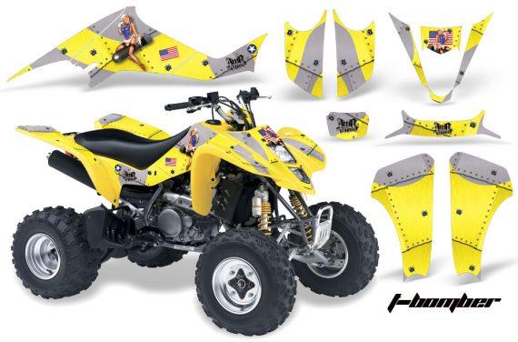 Suzuki LTZ 400 03 08 AMR Graphics TBomber Yellow 570x376 - Suzuki LTZ 400 2003-2008 Graphics