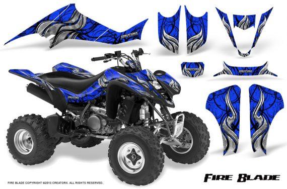 Suzuki LTZ400 03 08 CreatorX Graphics Kit Fire Blade Black Blue 570x376 - Suzuki LTZ 400 2003-2008 Graphics