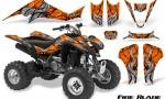 Suzuki LTZ400 03 08 CreatorX Graphics Kit Fire Blade Black Orange 150x90 - Suzuki LTZ 400 2003-2008 Graphics