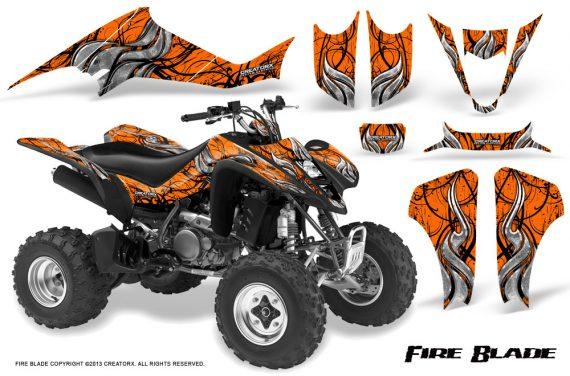 Suzuki LTZ400 03 08 CreatorX Graphics Kit Fire Blade Black Orange 570x376 - Suzuki LTZ 400 2003-2008 Graphics