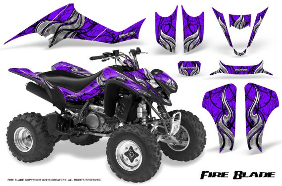Suzuki LTZ400 03 08 CreatorX Graphics Kit Fire Blade Black Purple 570x376 - Suzuki LTZ 400 2003-2008 Graphics