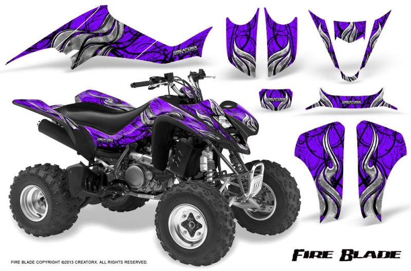 Suzuki-LTZ400-03-08-CreatorX-Graphics-Kit-Fire-Blade-Black-Purple