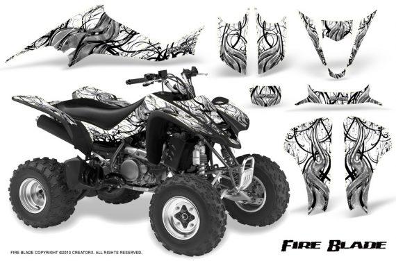 Suzuki LTZ400 03 08 CreatorX Graphics Kit Fire Blade Black White 570x376 - Suzuki LTZ 400 2003-2008 Graphics