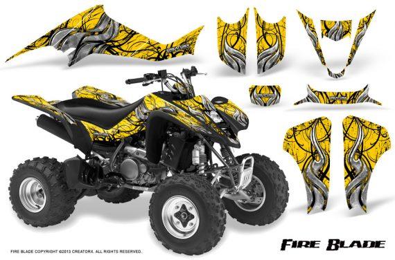 Suzuki LTZ400 03 08 CreatorX Graphics Kit Fire Blade Black Yellow 570x376 - Suzuki LTZ 400 2003-2008 Graphics