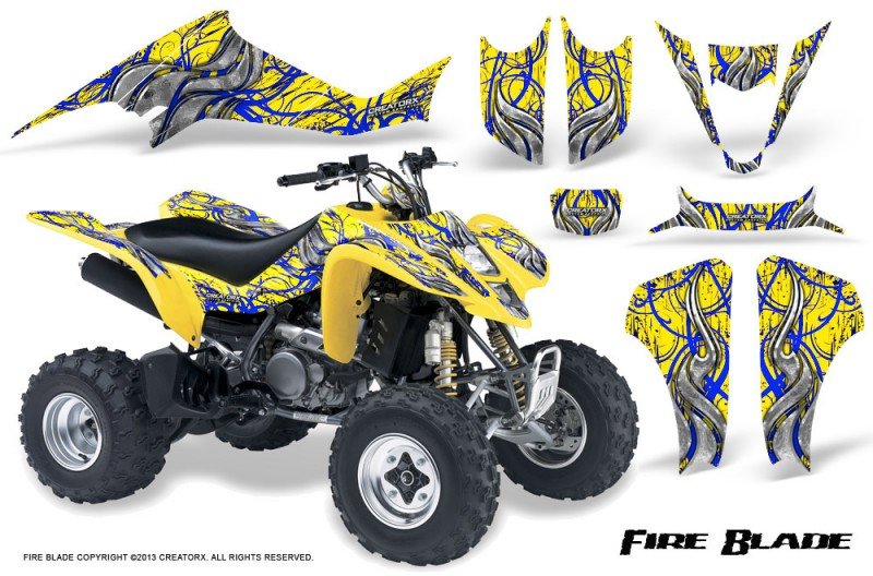 Suzuki-LTZ400-03-08-CreatorX-Graphics-Kit-Fire-Blade-Blue-Yellow