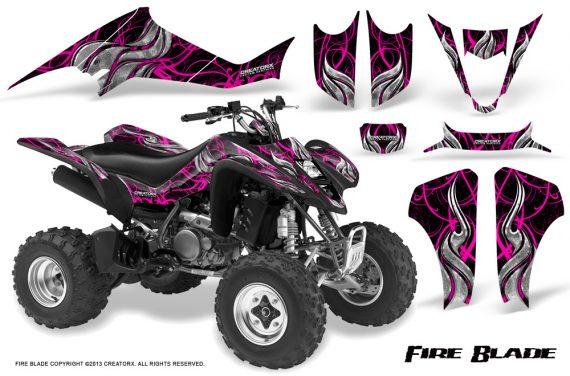 Suzuki LTZ400 03 08 CreatorX Graphics Kit Fire Blade Pink Black 570x376 - Suzuki LTZ 400 2003-2008 Graphics