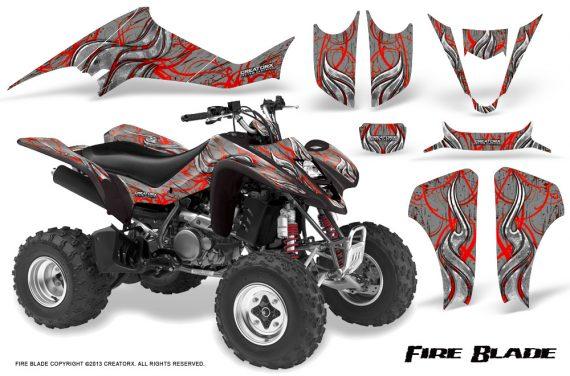 Suzuki LTZ400 03 08 CreatorX Graphics Kit Fire Blade Red Silver 570x376 - Suzuki LTZ 400 2003-2008 Graphics