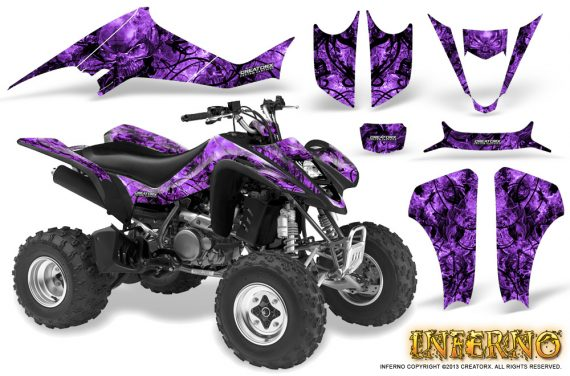 Suzuki LTZ400 03 08 CreatorX Graphics Kit Inferno Purple 570x376 - Suzuki LTZ 400 2003-2008 Graphics