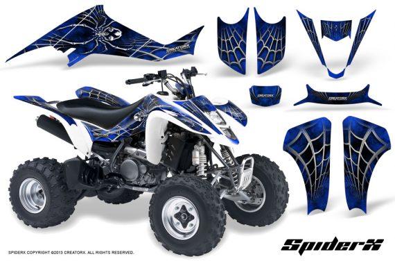 Suzuki LTZ400 03 08 CreatorX Graphics Kit SpiderX Blue WB 570x376 - Suzuki LTZ 400 2003-2008 Graphics