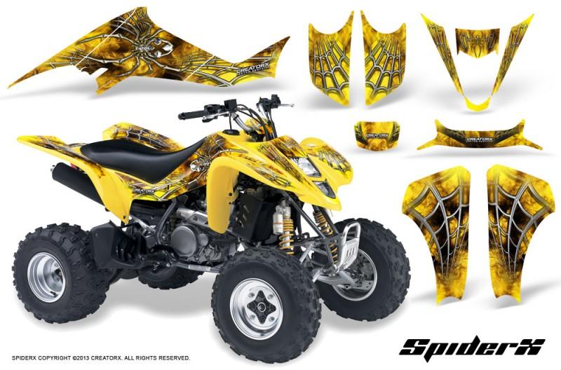 Suzuki-LTZ400-03-08-CreatorX-Graphics-Kit-SpiderX-Yellow