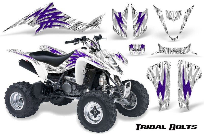 Suzuki-LTZ400-03-08-CreatorX-Graphics-Kit-Tribal-Bolts-Purple-White