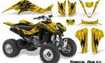Suzuki LTZ400 03 08 CreatorX Graphics Kit Tribal Bolts Yellow BB 150x90 - Suzuki LTZ 400 2003-2008 Graphics