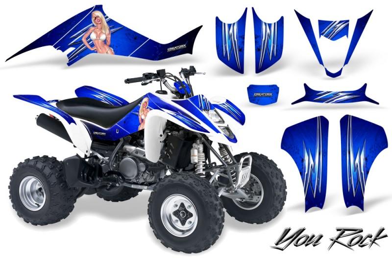 Suzuki-LTZ400-03-08-CreatorX-Graphics-Kit-You-Rock-Blue