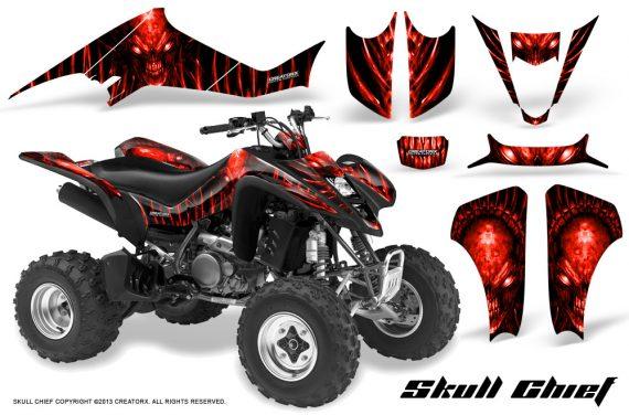 Suzuki LTZ400 03 08 CreatorX Graphics Skull Chief Red 570x376 - Suzuki LTZ 400 2003-2008 Graphics