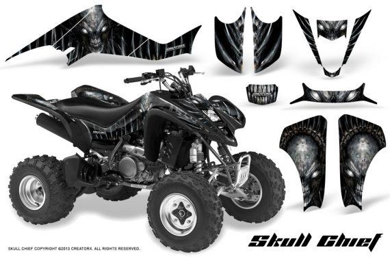 Suzuki LTZ400 03 08 CreatorX Graphics Skull Chief Silver 570x376 - Suzuki LTZ 400 2003-2008 Graphics
