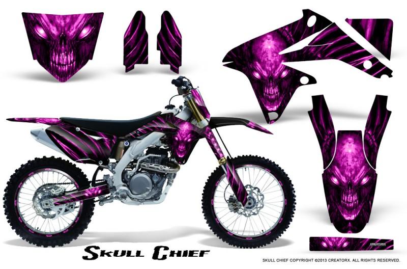 Suzuki-RMZ450-08-12-RMZ250-10-12-CreatorX-Graphics-Kit-Skull-Chief-Pink-NP-Rims