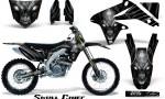 Suzuki RMZ450 08 12 RMZ250 10 12 CreatorX Graphics Kit Skull Chief Silver NP Rims 150x90 - Suzuki Dirt Bike Graphics