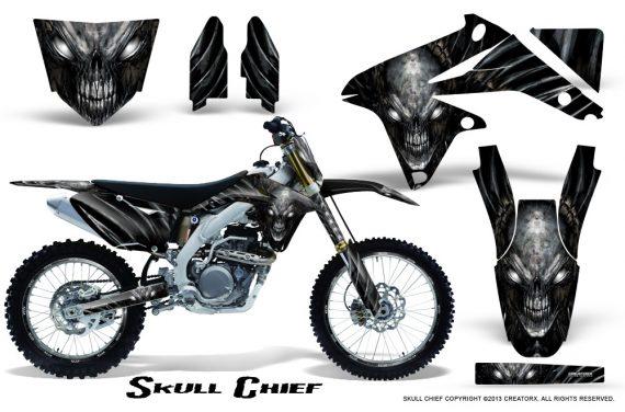 Suzuki RMZ450 08 12 RMZ250 10 12 CreatorX Graphics Kit Skull Chief Silver NP Rims 570x376 - Suzuki Dirt Bike Graphics