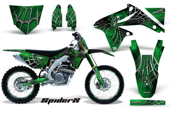 Suzuki RMZ450 08 12 RMZ250 10 12 CreatorX Graphics Kit SpiderX Green NP Rims 570x376 - Suzuki Dirt Bike Graphics