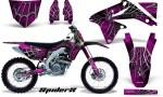 Suzuki RMZ450 08 12 RMZ250 10 12 CreatorX Graphics Kit SpiderX Pink NP Rims 150x90 - Suzuki Dirt Bike Graphics