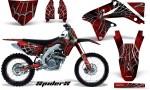Suzuki RMZ450 08 12 RMZ250 10 12 CreatorX Graphics Kit SpiderX Red NP Rims 150x90 - Suzuki Dirt Bike Graphics