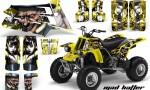 YAMAHA Banshee 350 AMR Graphics MadHatter Silver Yellow 150x90 - Yamaha Banshee 350 Graphics