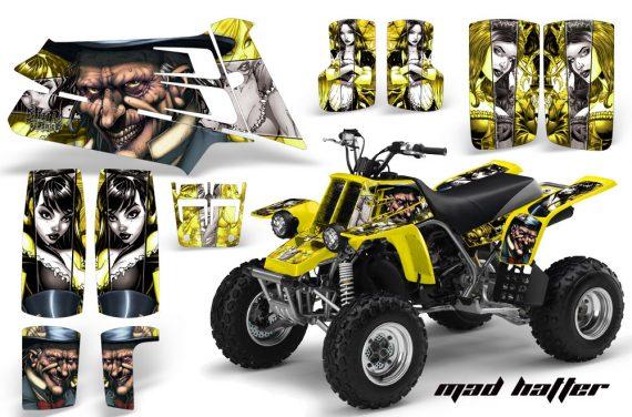 YAMAHA Banshee 350 AMR Graphics MadHatter Silver Yellow 570x376 - Yamaha Banshee 350 Graphics