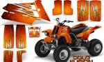 YAMAHA Banshee 350 CreatorX Graphics Kit Cold Fusion Orange 150x90 - Yamaha Banshee 350 Graphics