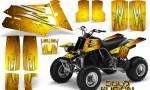 YAMAHA Banshee 350 CreatorX Graphics Kit Cold Fusion Yellow BB 150x90 - Yamaha Banshee 350 Graphics