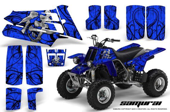 YAMAHA Banshee 350 CreatorX Graphics Kit Samurai Blue 570x376 - Yamaha Banshee 350 Graphics